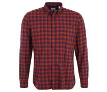 Freizeithemd, Karo-Muster, Baumwolle, Brusttasche, Rot