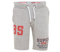 Shorts, meliert, Print, Sweat, Baumwoll-Mix