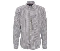 Hemd, kleinkariert, Regular Fit, Button-Down-Kragen