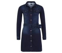 Minikleid, Jeans, leichte Waschung, Blau