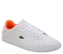 "Sneaker ""Graduate"", Leder, Emblem, Weiß"