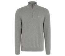 Pullover, Baumwolle, Strick, Troyer-Kragen