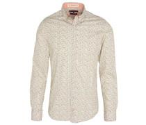 Freizeithemd, Baumwolle, Allover-Print, Button-Down-Kragen