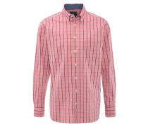 Hemd, kariert, Button-Down-Kragen, Brusttasche, Rot