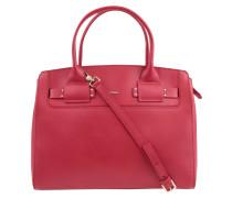 """Handtasche """"Gina"""", Leder, abnehmbarer Umhängeriemen, Rot"""
