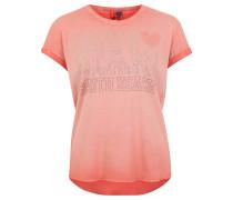 T-Shirt, Strass-Verzierung, Baumwoll-Mix, Orange