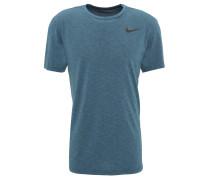 T-Shirt, Dri-Fit, atmungsaktiv, Logo-Emblem, meliert