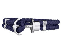 Ankerarmband PHREP IP Silber Marineblau 18 cm