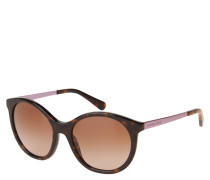 "Sonnenbrille ""MK 2034 Island Tropics"", Havanna-Optik, schimmernde Bügel"