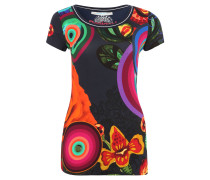 """T-Shirt """"Mayte"""", Allover-Print, Kurzarm, Blau"""