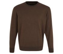 Pullover, Rundhalsausschnitt, reine Baumwolle, Braun