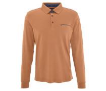 Poloshirt, Langarm, Brusttasche, Gelb