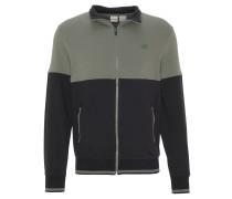 Sweatshirt, zweifarbig, Stehkragen, atmungsaktiv, für Herren, Schwarz