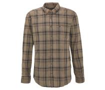 Hemd, Baumwolle, Button-Down-Kragen, Karo-Muster