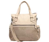 Handtasche, Kunstleder, mehrere Fächer, Beige