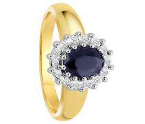Diamant-Ring mit Saphir