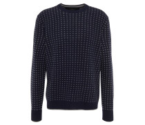 "Pullover ""Ricky"", Kaschmir-Anteil, Strick-Muster, Blau"