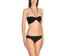 Bikinislip, uni, elastisch, Schwarz