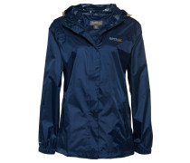 Regenjacke, atmungsaktiv, leicht, wasserdicht, für Damen, Blau