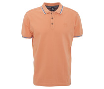 Poloshirt, reine Baumwolle, Farbakzente, Orange