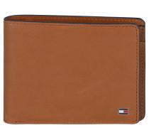 "Brieftasche ""Contrast"", Kalbsleder, Logo, Braun"
