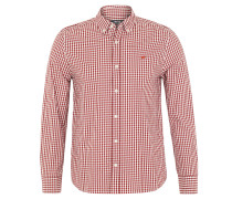 Freizeithemd, Slim Fit, Button-Down-Kragen, Rot