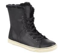 """Sneaker """"Croft Luxe Quilt"""", Leder, Lammfell, Schnürung, Schwarz"""