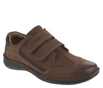 "Sneaker ""Anvers 69"", Leder, Doppel-Klettverschluss, Braun"