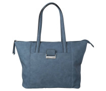 "Shopper ""Talk Different II"", Leder-Optik, Blau"