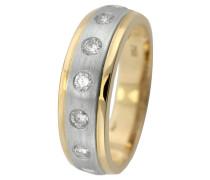 Memoire Ring Platin 950/ Gold 750 mit Diamant