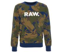 Sweatshirt, Camouflage-Look, Print, Oliv