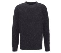Pullover, grober Strick, Seiden-Anteil, Rundhals, Blau