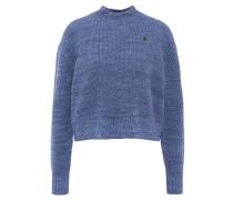 """Strickpullover """"Fogela Knit"""", hoher Kragen, Oversized, Vintage, Blau"""