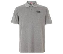 Poloshirt, Logo-Stickerei, Grau