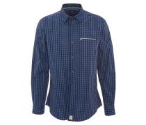 Freizeithemd, Modern Fit, kariert, Under-Button-Down-Kragen, Blau