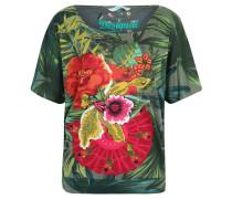 "T-Shirt ""Maroni"", Oversize-Look, Allover-Print, Grün"
