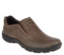 Slipper, Leder Fußbett, Profilsohle, Stretch