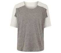 T-Shirt, meliert, Baumwolle, Grau