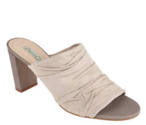 Sandaletten, Wildleder, Block-Absatz