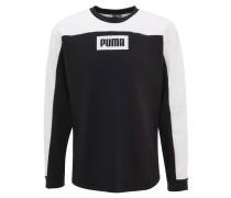 Sweatshirt, zweifarbig, Logo-Print