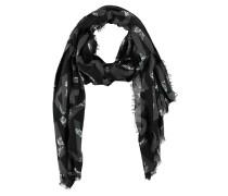 Schal, florales Muster, Allover-Label-Schriftzug