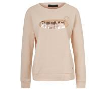 Pullover, Metallic-Druck, Baumwolle, Melange