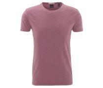 T-Shirt, meliert, Baumwoll-Mix, Lila