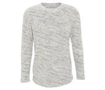 Langarmshirt, meliert, angerautes Material, Grau