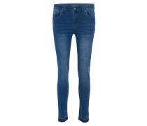 Jeans, 5-Pocket-Stil, Waschung, Fransen-Saum