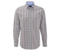 Hemd, kariert, Button-Down-Kragen, Rot