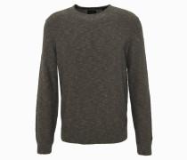 Pullover, meliert, Rippbündchen, Oliv