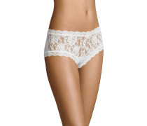 Pants, transparent, Spitzen-Design, Weiß
