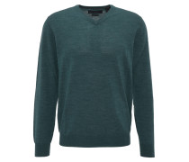 Pullover, V-Ausschnitt, Wolle, Grün