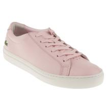 """Sneaker """"L.12.12"""", Leder, gesticktes Logo, Pink"""
